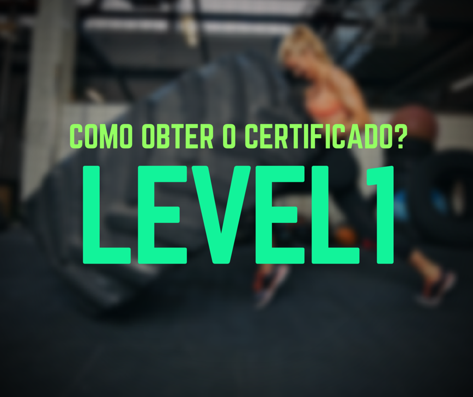 certificado level1 crossfit
